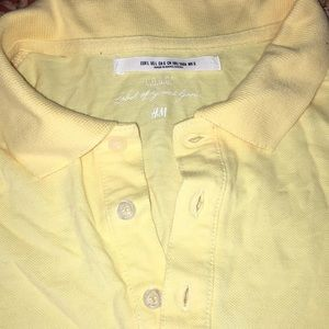 Yellow Short Sleeve Collared Top